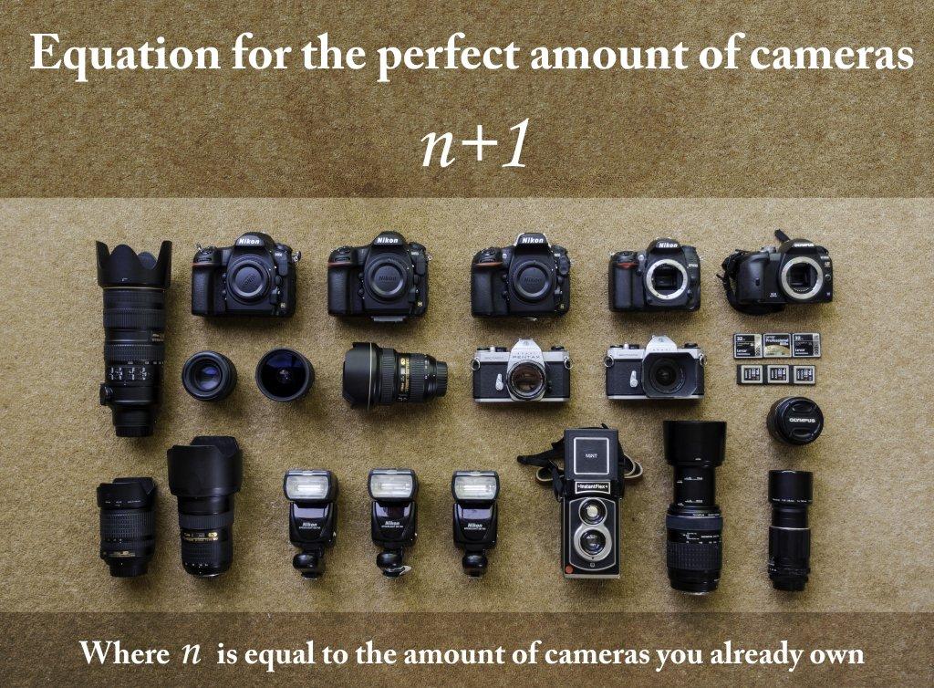 lots of cameras