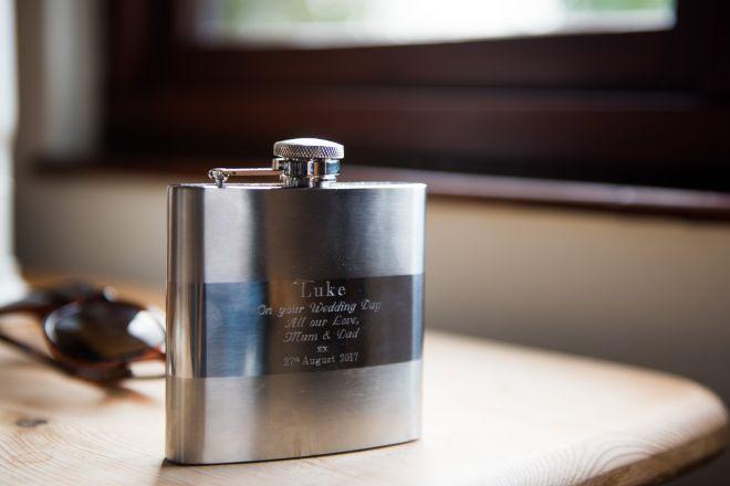 personalised hip flask groom